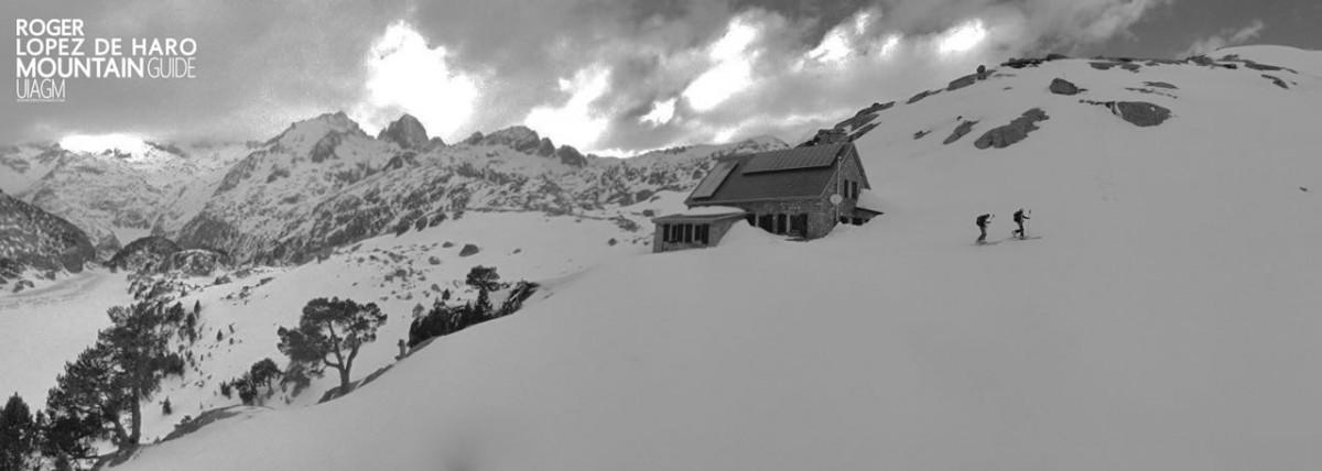Esquí de montaña en Baqueira, Refugío Ventosa